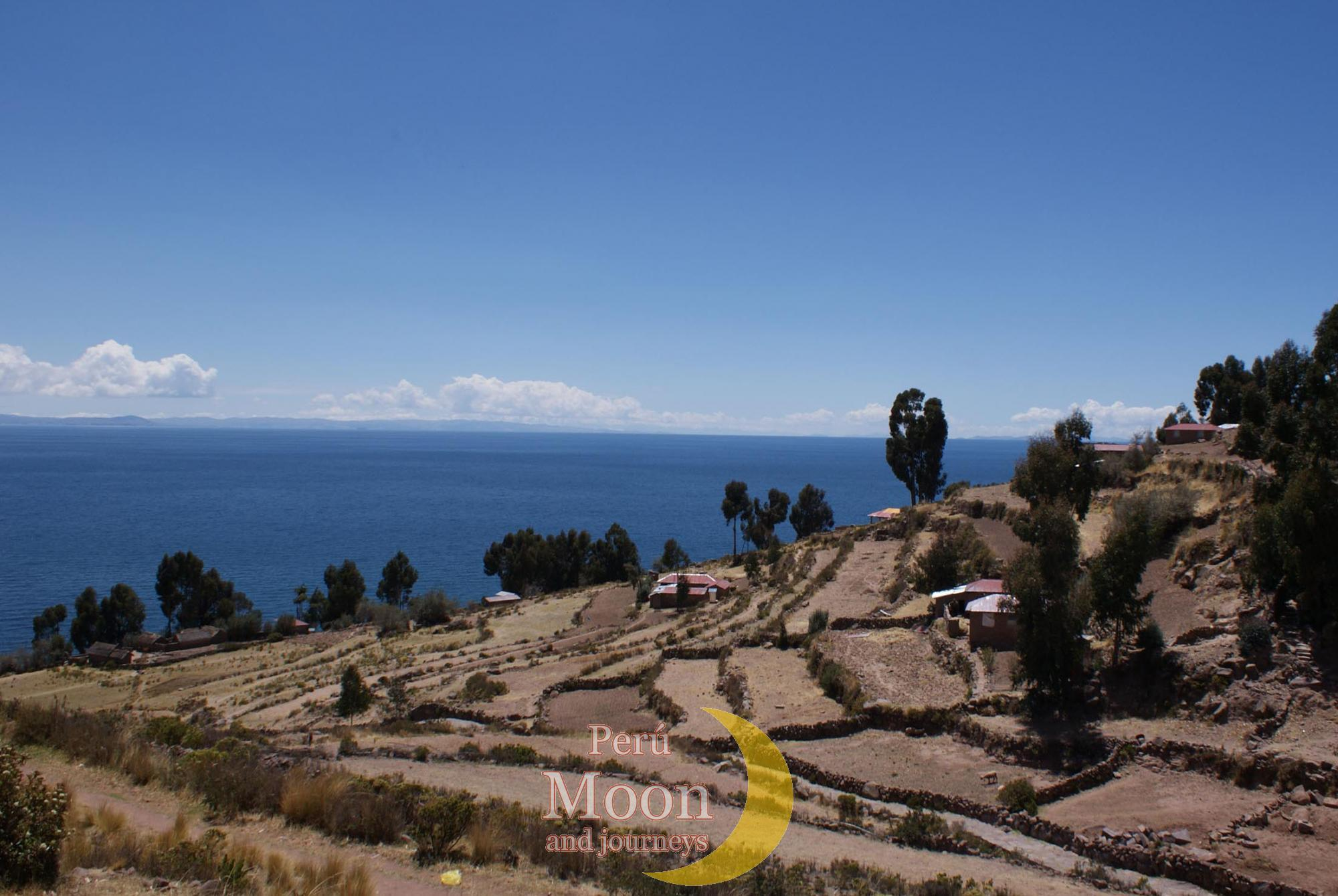 Landscape of the island of Taquile 2