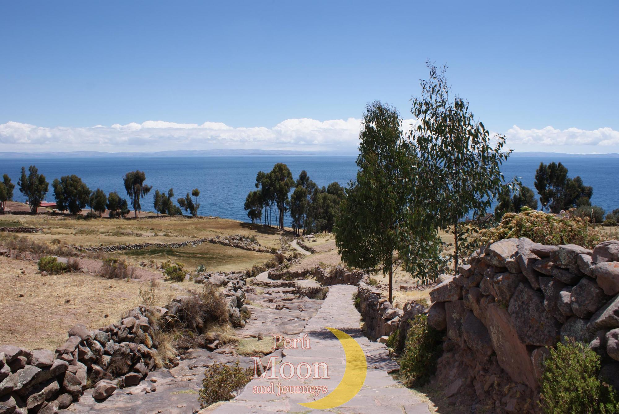 Landscape of the island of Taquile